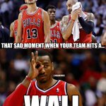 RT @CarbonPrimo: RT @NBAMemes: The Chicago Bulls have hit a WALL: Down 0-2 headed on the road! #Wizards #JohnWall http://t.co/tGw4tUh8RH