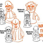 Moderate leaders of BJP. MailToday cartoon. http://t.co/9fNP3el7lG