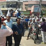 """@Vote4AAP: Volunteers join @ArvindKejriwal while he is going to file nomination. #Kejriwal4Kashi http://t.co/gi1FHIVIz5"""