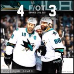 #SJSharks WIN!!! Marleaus backhand in OT gives the Sharks a 3-0 series lead! Game 4 is Thursday! http://t.co/bUGuNjqpfI