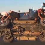 #Craziest car stunt ever... Click here to check out the video... http://t.co/3eo3je4fv0 #Insane #CrazyWorld #Bizarre http://t.co/E8QcI3JlYz