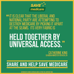 RT @CatherineKingMP: The very fabric of Medicare is held together by universal access #savemedicare #auspol http://t.co/DHamaey8xi