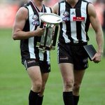 RT @theage_photo: PHOTO from 2006 : Nathan Buckley & Anzac Day medalist Ben Johnson with the Anzac trophy. @CollingwoodFC #ANZAC http://t.co/Bp51yUzUmV