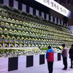 MT @LucyWilliamson: Mourners pay their respects to victims of #Sewol ferry disaster at a memorial altar in Ansan http://t.co/qKNHiHXelF