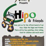 Chipo and Friends Launch! 3 May, Lusaka #Zambia. They are donating 5% for each #Zambezi toy! Thanks to @kamangawear http://t.co/K7e3Ncq6zc