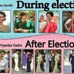 "During Elections: Priyanka ""Gandhi"" After Elections: Priyanka ""Vadra"" Its all in the ""G"" name ;-) http://t.co/Na6qPDjPzL"