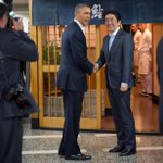 RT @Stcrow: President Obama, Amb. Caroline Kennedy joining Prime Minister Shinzo Abe for sushi at Sukiyabashi Jiro in Tokyo Wed. http://t.co/GHGLA1LprE