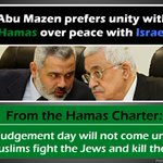 RT @IsraeliPM: Please RT this important message: Abu Mazen prefers unity with Hamas over peace with Israel http://t.co/YPiJofw4No