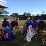 Talking about #WrigleyField100 with @Morning_Joe with Todd, Laura and Tom Ricketts http://t.co/gf1PcuJNIG