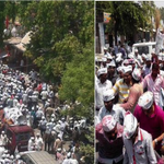 Left: Varanasi Right: Amethi People of Uttar Pradesh are making their preference clear. Quite Clear #Kejriwal4Kashi http://t.co/OAR80oSU4e