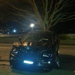 Buddy Franklins car after the accident in Rose Bay / RT @CraigMcDonald2: real life http://t.co/8mi3gq0CMZ