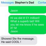 RT @JasonManford: He saw it!!! @_StephensStory @TeenageCancer http://t.co/qdh02YLCIz