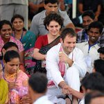 Rahul and Priyanka with school children n women while some BJP members like snooping @WithCongress #PriyankaVsBJP http://t.co/9uefpmpXZA
