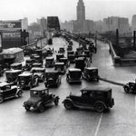 RT @CLEHistory: Traffic congestion on the Detroit-Superior Bridge at W. 25th St. 1930. http://t.co/8amMGAQDAn