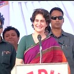 Raebareli: Priyanka Gandhi addressing a public meeting http://t.co/iziOM0rEmM #PriyankaVsBJP