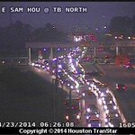 SB East Sam Houston Tollway jammed near the Ship Channel Bridge after a 5-car pileup about 5:45 a.m. #hounews http://t.co/Zz9HY3XvJn