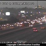 Inbound Gulf Freeway slowed near Airport after a crash about 6:20 a.m.; 2 lanes blocked. #hounews http://t.co/4O5N9PCer6