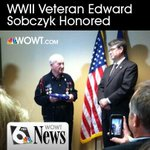 WWII vet from #Omaha honored for service. He served on the frontlines of all 5 major battles in Europe. Please RT! http://t.co/yt2Euh07dK