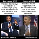 RT @larryelder: Obama v. Obama: Obamacare And Your Cell Phone Bill http://t.co/nRCQRLZPAz