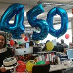 RT @1623theatre: Shakespeare brightens up the @derbyquad office on his special day. #HappyBirthdayShakespeare #Shakespeare450 http://t.co/688eYUz0Q2