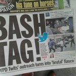 #myNYPD makes cover of todays Daily News http://t.co/9p6EcPJ7rR