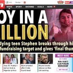 Top story on @TheSunNewspapers website is brave @_StephensStorys £1m fundraising success: http://t.co/HNhJ5nzyaM http://t.co/5dlXK88iH0