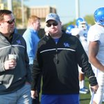 RT @KyleTucker_CJ: My man @JonathanPalmer with a much nicer shot of Mark and Bob Stoops together at UK practice. http://t.co/z7yCu3drGv