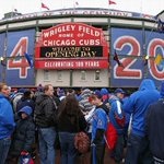 Happy 100th Birthday, Wrigley Field.  Even after a century, the Friendly Confines are still friendly. http://t.co/9vkRWot5Cf
