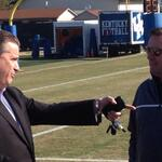 John Calipari and Bob Stoops at UK Spring Practice. http://t.co/tqNObVHpQ2