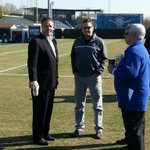 UK head coach John Calipari makes an appearance at football practice. Photo by Jonathan Krueger. http://t.co/Sj6CclUZjE