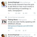 "Thats y this moron @ArvindKejriwal doesnt deserve to be a Peon forget abt CM/PM. He RTed a ""joke"" by @fakingnews http://t.co/6OqNtjpqPH"