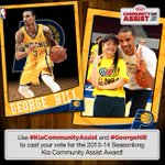 RT @PacersCares: Hey @Pacers fans - Join us and vote for @George_Hill3 to win the NBA #KiaCommunityAssist Award! http://t.co/M7vghrsRTr