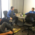 The @KySportsRadio war room for todays show live from UK football practice http://t.co/vyaFbZ3gaU