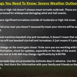 RT @NWSNorman: 12 things you need to know about severe weather outlooks, part two: #okwx #txwx http://t.co/PUmiiSfMzd