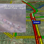 SB Wayne Gretzky/75 Street VERY SLOW btwn Rexall Place and Argyll #yegtraffic http://t.co/GFITva94Xk