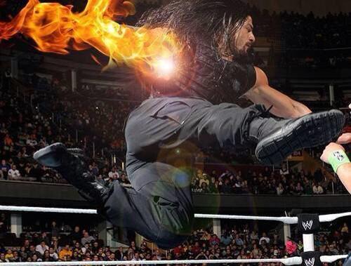 Roman Reigns has super powers.The superman punch. #Romanreigns