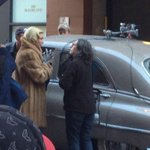 Theyre filming #Carolmovie right across the street from @Enquirer this morning! http://t.co/EjYBRs1v1Q