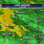 Heavy rain now falling on the west side of the #Portland metro area. Dont forget your rain jacket this morning! http://t.co/EumXKzzS8n