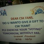 """@paramporul: My pluccard at Dubai stadium. @ChennaiIPL #PepsiIPL #CSKvsRR http://t.co/Odevhmcmyd"" good one!"