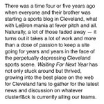 RT @WFNYScott: The official release from @Cleveland_Scene — Best Sports Blog/Best Podcast http://t.co/dVnEzbjc1X http://t.co/o1sIrEbVAb