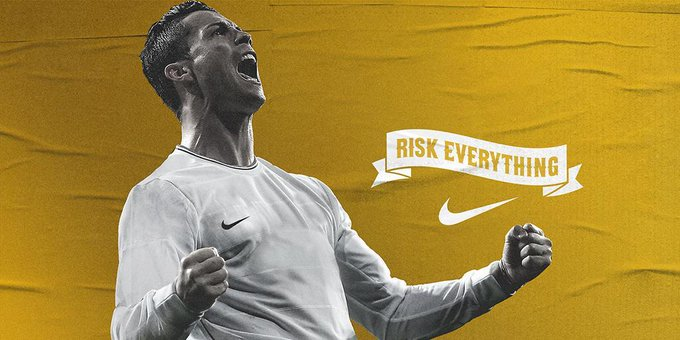 Cristiano Ronaldo @Cristiano: You only become a giant by making them fall. #RiskEverything http://t.co/q5emYFofxO