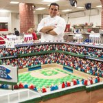 Im so honored to make Wrigley Fields 100th birthday cake! Time to celebrate @Cubs style baby!#WrigleyField100 http://t.co/n8UQ6mGf81