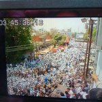 RT @anuragdhanda: .@arvindkejriwal road show thru screen of my camera. Will take @narendramodi road show pic frm same point tomorrow. http://t.co/qFcshn2Ypj