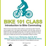 RT @ChooseUrWayBell: Interested in #bike commuting? @CascadeBicycle will lead a free Bike 101 workshop at #Bellevue Place next Wednesday! http://t.co/tdQd1pDlJG