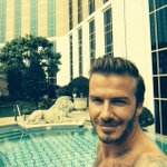 RT @LassBible: Becks takes a topless selfie while relaxing by a pool during a working break in Macau. Damn he gets better with age! http://t.co/W52hWuLN1S