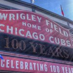Happy 100th birthday, Wrigley Field. http://t.co/mKlXmqvNjB