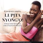 Congrats to Actress @Lupita_Nyongo for being named Most Beautiful by @peoplemag http://t.co/bpAaIx44jK