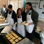 .@GrillCheese49 serves grilled cheese today at the Greater Pittsburgh Food Bank. http://t.co/tmP2TNKnSF