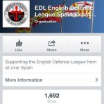 Talk about irony on #StGeorgesDay ... Lord, give me strength ... #EDL set-up a Spanish ex-pat division on Facebook! http://t.co/iRAJweF2fn