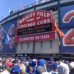 Happy 100!! #WrigleyField100 #cubs http://t.co/vUqCWX4Osh